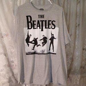 The Beatles - Jumping Band Graphic Gray T-Shirt